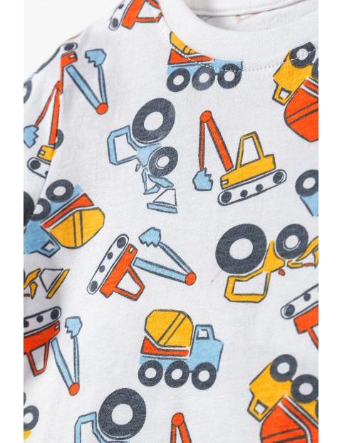 Bawełniana piżama chłopięca w koparki
