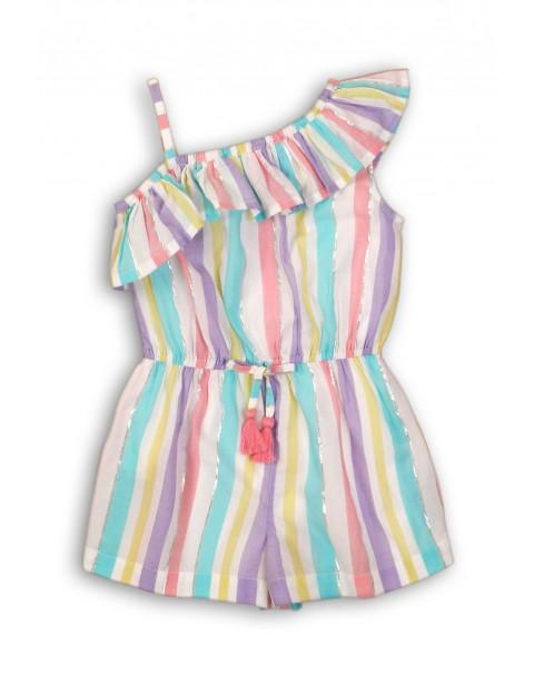 Kombinezon niemowlęcy w kolorowe paski