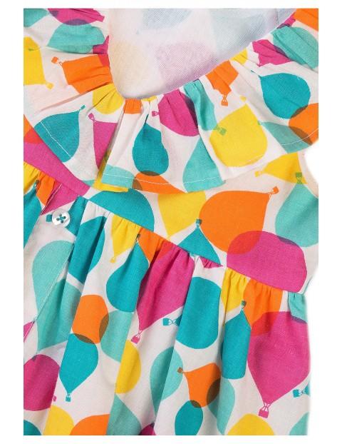 Bawełniana sukienka dziewczęca w kolorowe baloniki