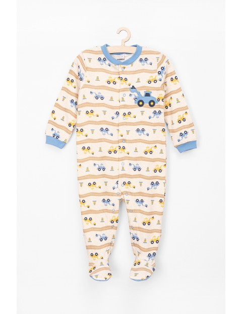 Pajac chłopięcy bawełniany dla niemowlaka