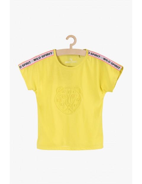 T-Shirt dziewczęcy żółty z tygrysem Wild Spirit