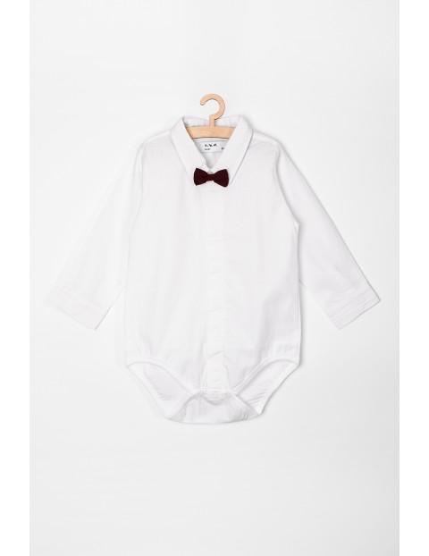 Body niemowlęce białe z muszką