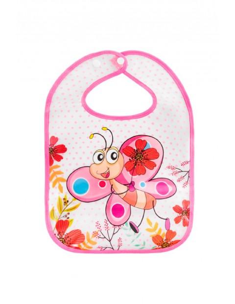 Śliniak EVA Motyl- różowy