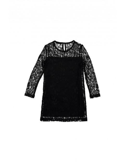 Sukienka dziewczęca czarna 4K35A4