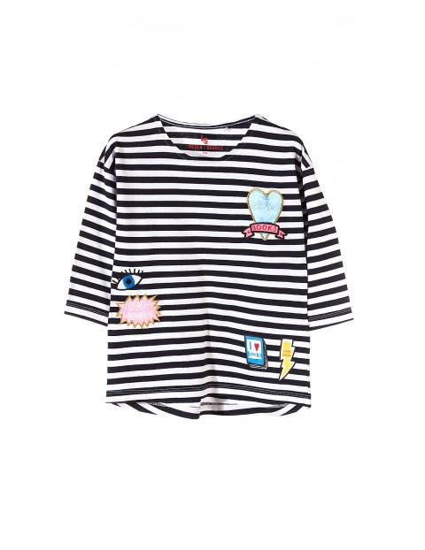 T-shirt dziewczęcy w paski 4I3501