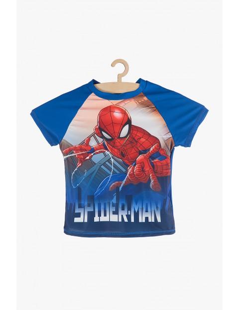 T-shirt kąpielowy Spiderman granatowy