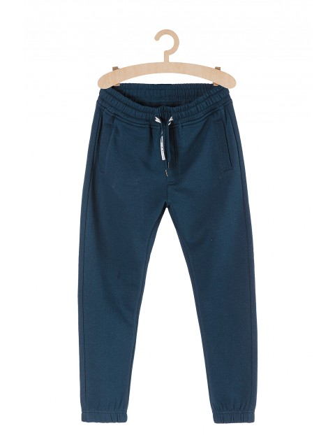 Spodnie dresowe chłopięce- granatowe