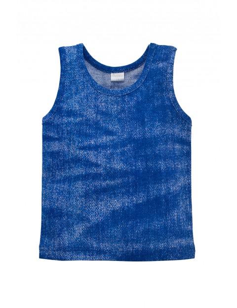 Koszulka chłopięca grube ramiączka niebieska