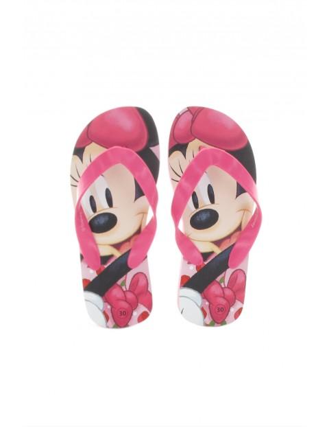 Klapki japonki dziewczęce Minnie-różowe