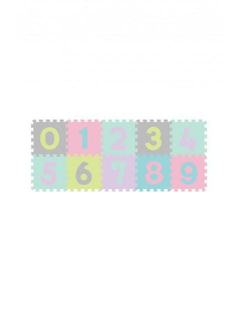 Puzzle piankowe 10 szt cyfry
