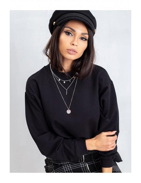 Bluza damska basic - czarna