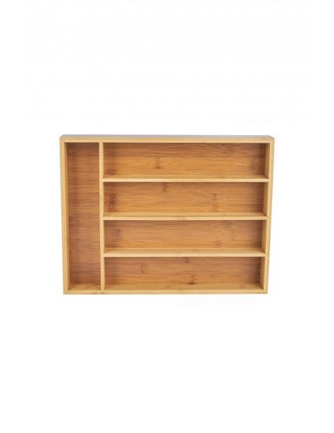 Wkład do szuflady na sztućce bambusowy Tadar 35,5 x 26,5 x 5 cm