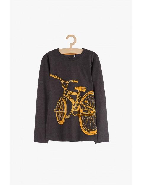 Bluzka chłopięca melanżowa z rowerem
