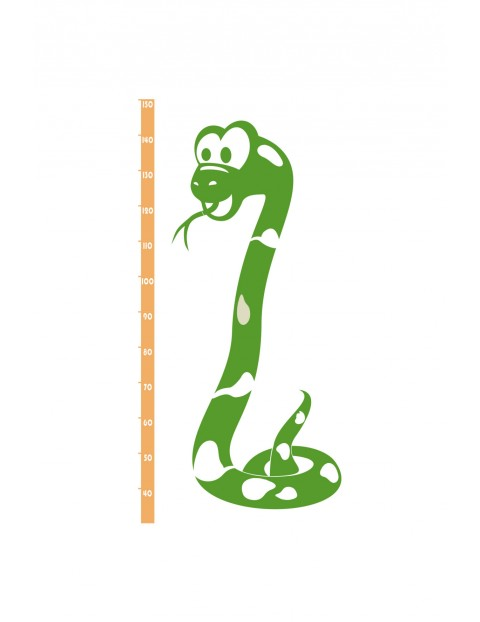 Naklejka welurowa  na ścianę Wąż-miarka