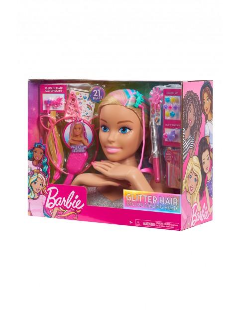 Barbie Głowa do stylizacji Glitter Hair Deluxe Styling