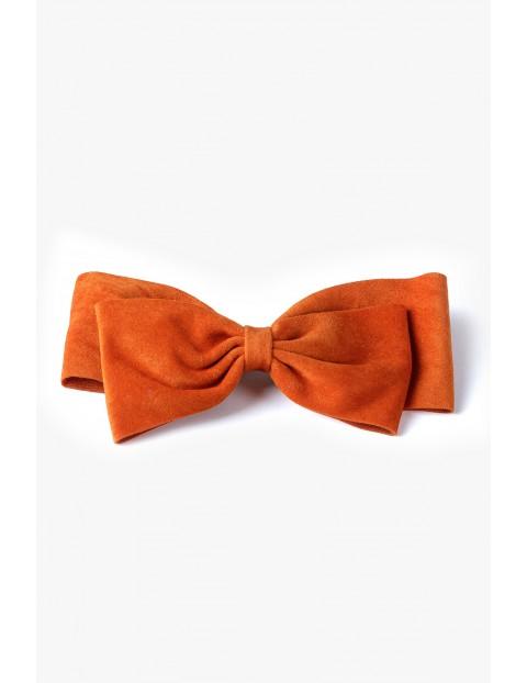 Spinka do włosów kokardka - pomarańczowa