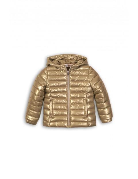 Pikowana kurtka ze złotym połyskiem