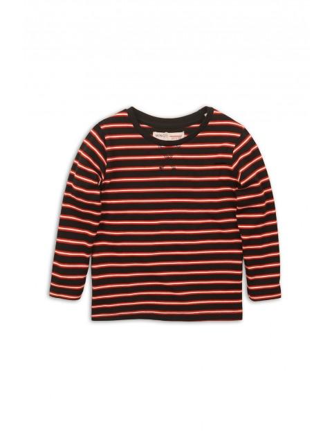 Bluzka chłopięca w paski - czerwona