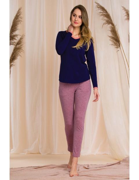 Piżama damska - spodnie i bluzka z długim rękawem