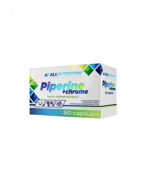 Suplementy diety - Allnutrition Piperine + Chrome - Spalacz tłuszczu - 60 kapsułek