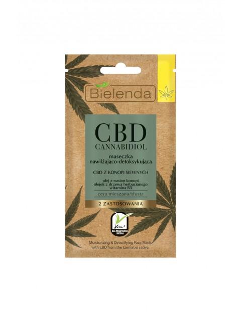 Bielenda CBD Cannabidiol maseczka nawilżająca-detoksykująca z CBD z konopi siewnych c. mieszana, tłusta - 8 g