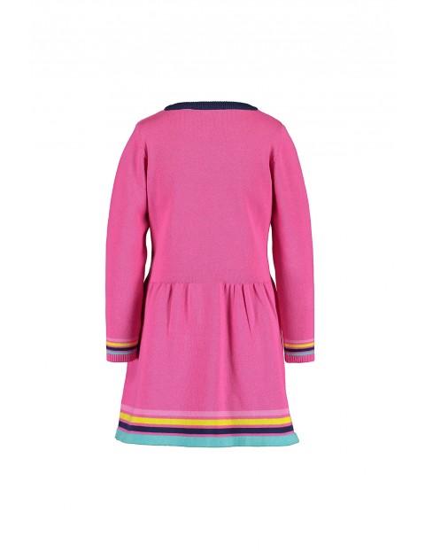 Sukienka dziewczęca bawełniana różowa