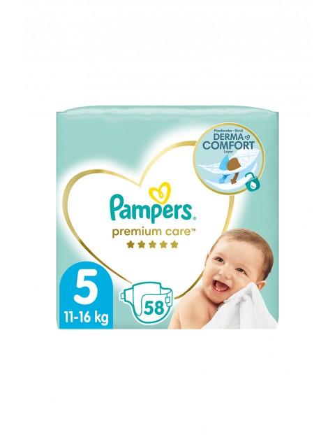 Pampers Premium Care, rozmiar 5,     58 pieluszek 11-16kg