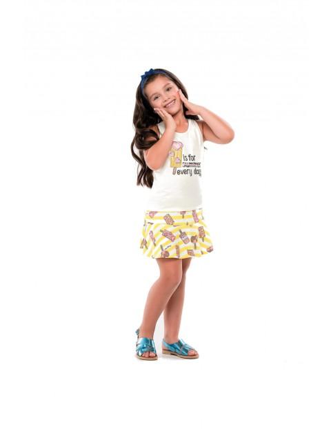 Ubrania dla dziewczynki top i spódnico-spodnie