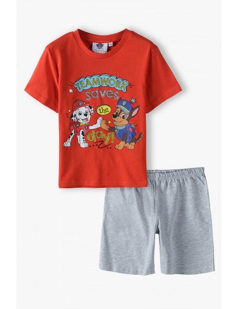 Pidżama chłopięca na krótki rękaw- Psi Patrol