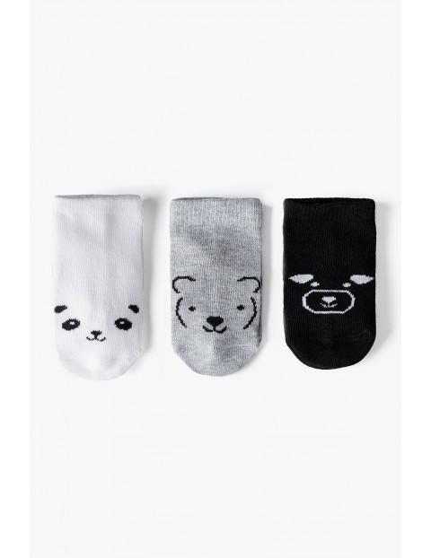 Skarpetki niemowlęce- białe, szare, czarne