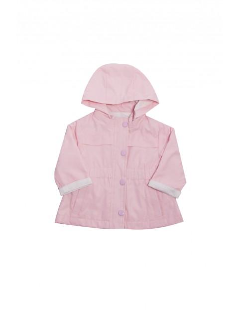 Kurtka cienka różowa dla niemowlaka