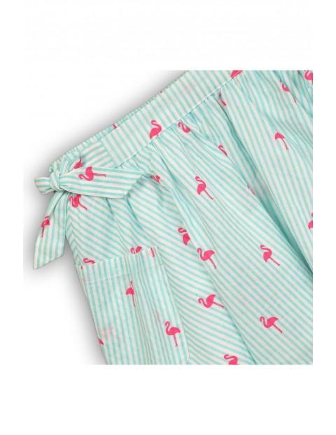 Spódnica dziewczęca w różowe flamingi