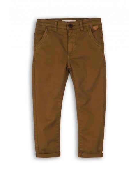 Spodnie chłopięce brązowe