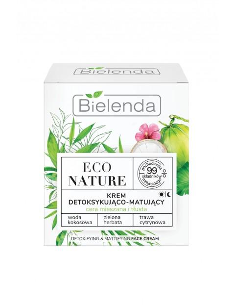 ECO NATURE - Woda kokosowa + Zielona Herbata + Trawa Cytrynowa - krem detoksykująco-matujący 50 ml