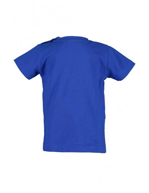 Koszulka chłopięca niebieska z wężem