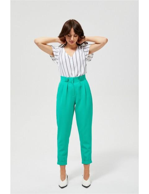 Spodnie damskie z wysokim stanem
