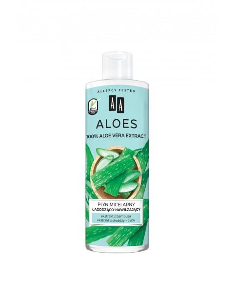 AA Aloes 100% aloe vera extract płyn micelarny łagodząco-nawilżający 400 ml