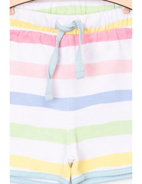 Szorty niemowlęce dzianinowe w kolorowe