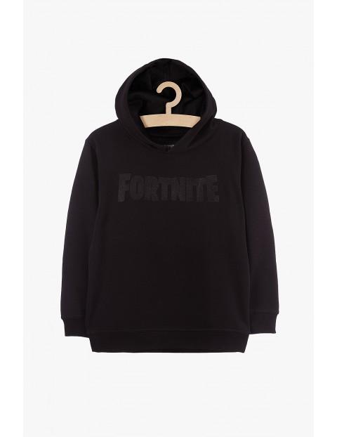 Bluza chłopięca z kapturem Fortnite czarna