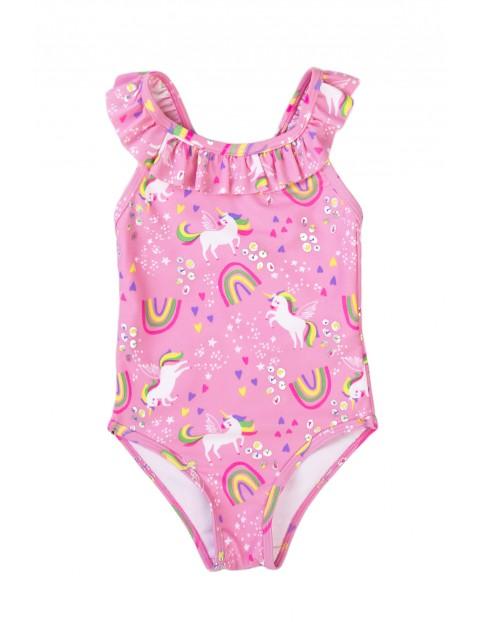 Strój kąpielowy niemowlęcy jednoczęściowy jednorożce