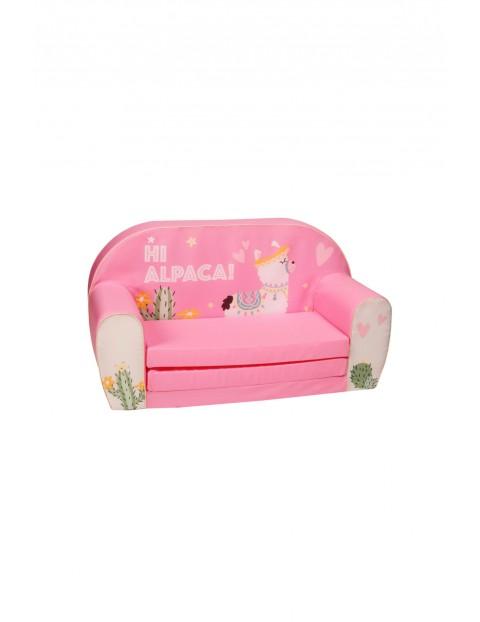 Rozkładana piankowa sofa dla dziecka Delsit Alpaka