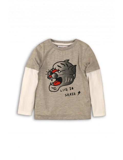 Bluzka chłopięca z tygrysem - szara