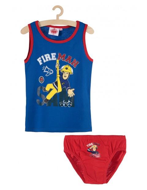 Chłopięcy komplet bieliźniany majtki i koszulka na ramiączkach Fire Man