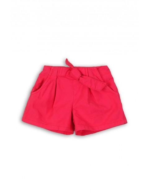 Tkaninowe szorty dla niemowalaka- różowe