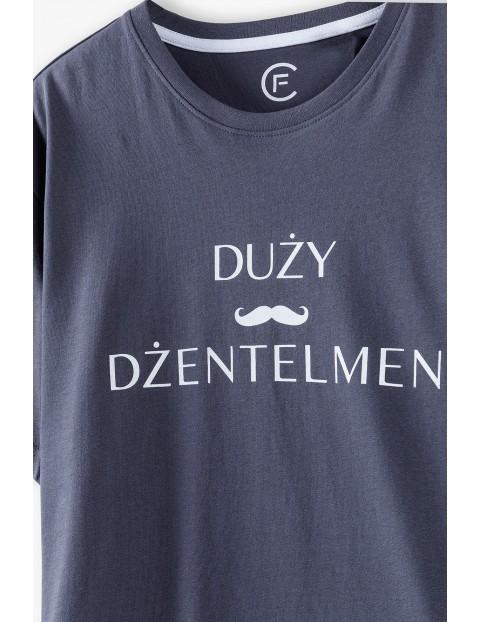 Bawełniany t-shirt męski- Duży Dżentelmen