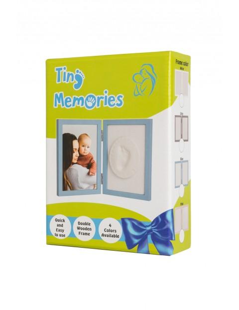 Tiny Memories Ramka z Glinką -odcisk malucha -  biała
