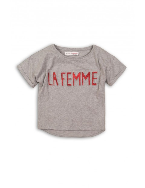 Koszulka dziewczęca z połyskującym napisem