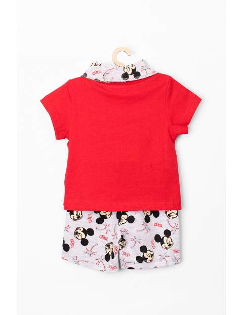 Komplet niemowlęcy apaszka, t-shirt i spodenki Myszka Mickey