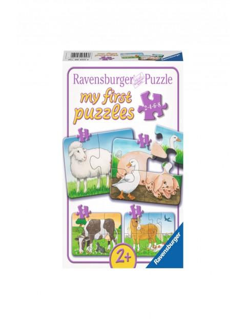 Moje pierwsze puzzle - Życie na wsi - 2/4/6/8 elementów wiem 2+