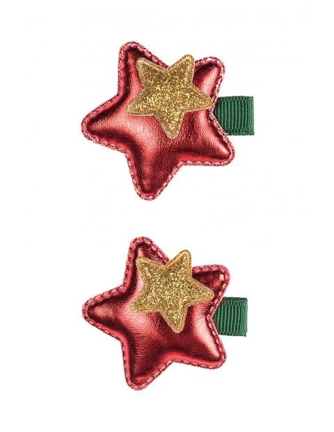 Spinki do włosów- świąteczne gwiazdki